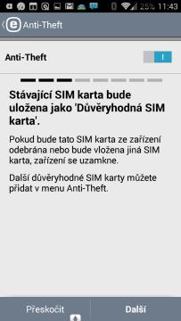 Nastavení důvěryhodné SIM