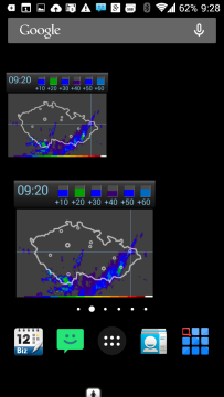 Widgety Meteor (Počasí) » Meteoradar