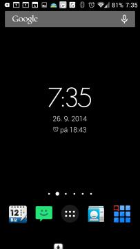 Widget aplikace Timely