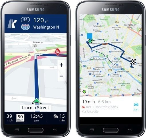Mapy a navigace Nokia Here přicházejí na Android