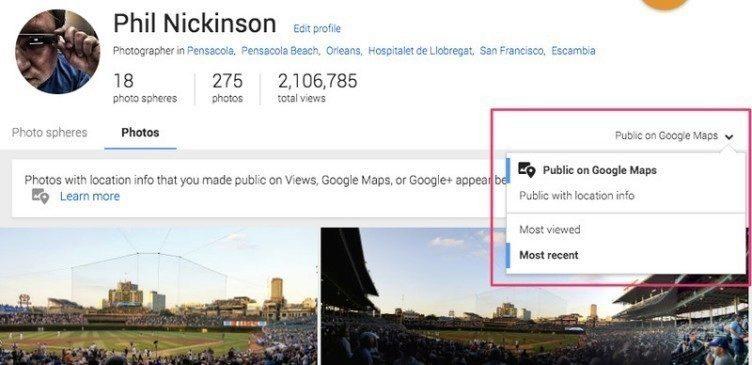Google maps fotografie Google+