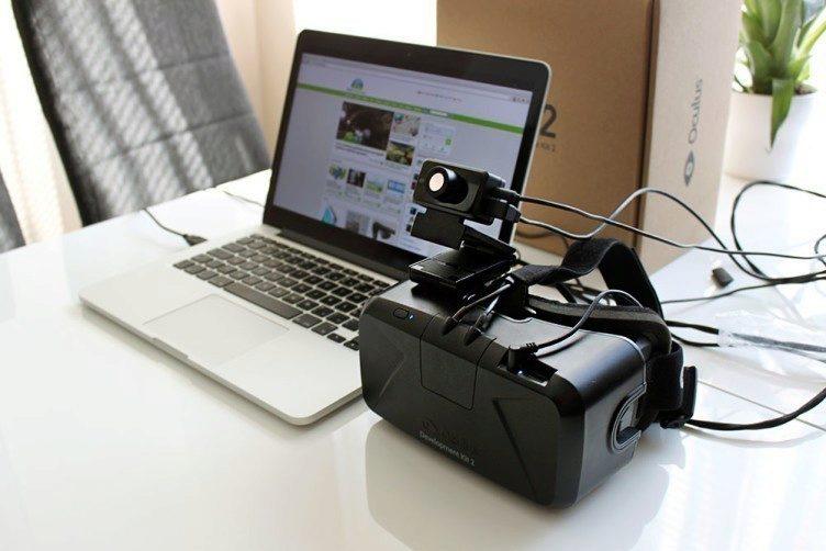 Oculus Rift Development Kit 2 celkové připojení k počítači