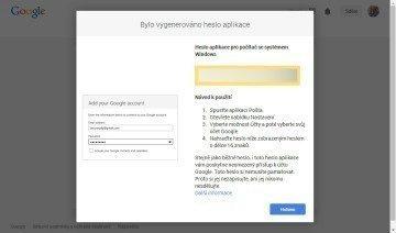Generování hesla pro další aplikace