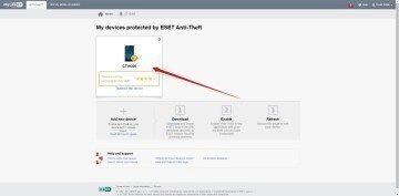 Sekce ESET Anti-Theft
