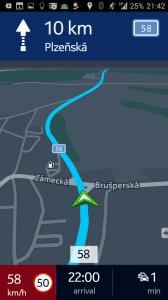 Režim navigace v noci
