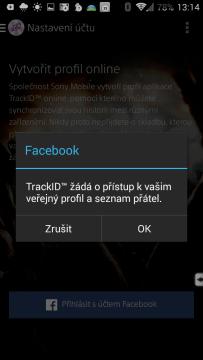 Požadavek na přístup k FB