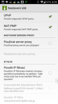 Možnosti nastavení sítě