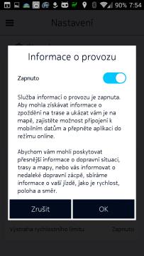 Informace o provozu