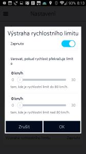 Výstraha rychlostního limitu