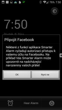 Propojení s Facebookem