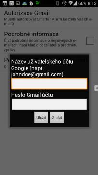 Nastavení Gmailu