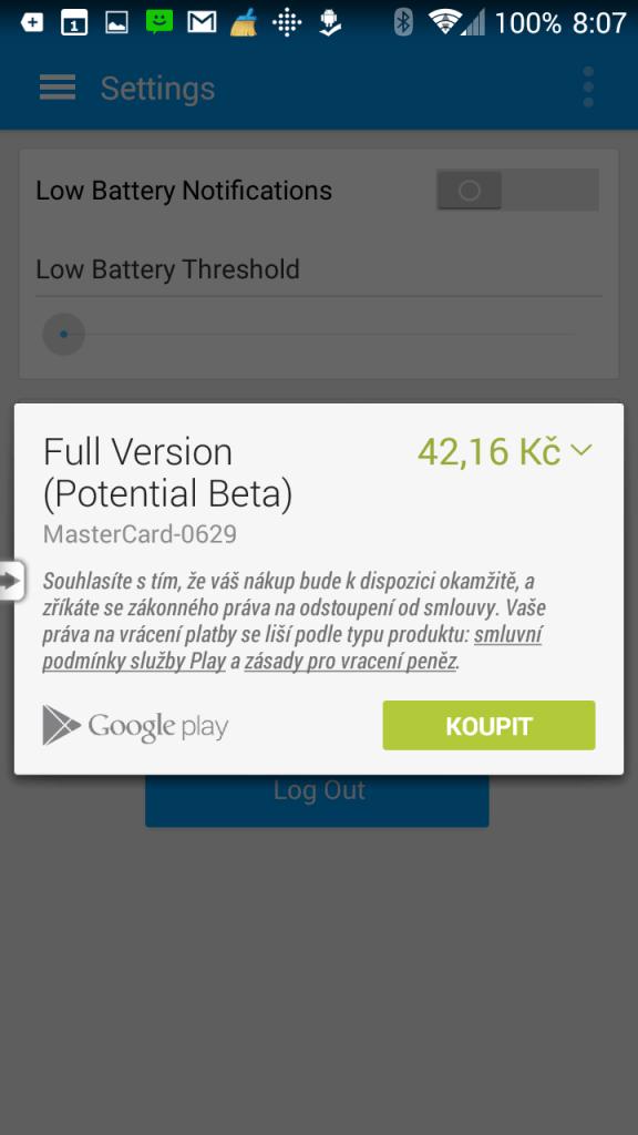 Plná verze aplikace přijde na 42 Kč