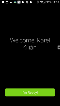 Přivítání uživatele
