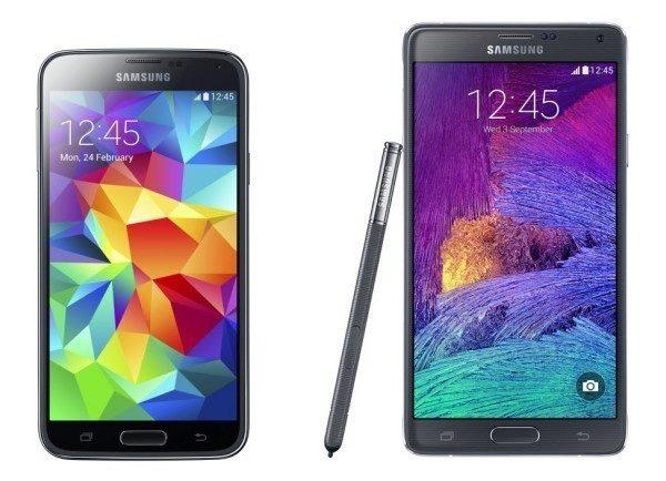Samsung Galaxy S5 a Galaxy Note 4