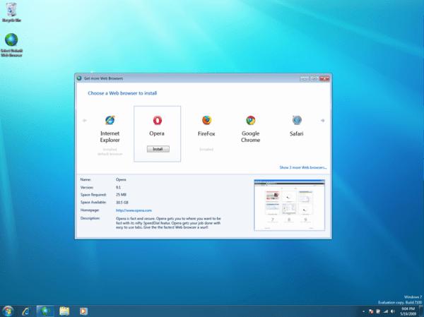 Evropská komise donutila Microsoft nabízet alternativní webové prohlížeče