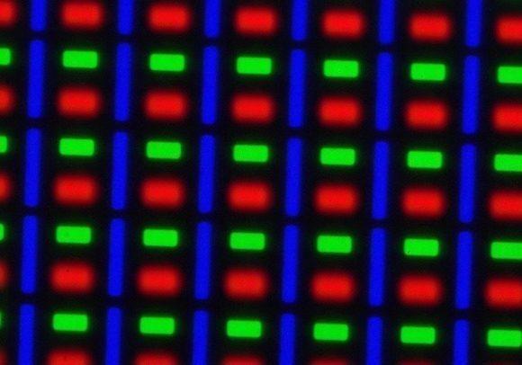 Typická PenTile matice AMOLED obrazovek