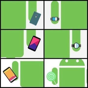 Androidify koláž nových předmětů