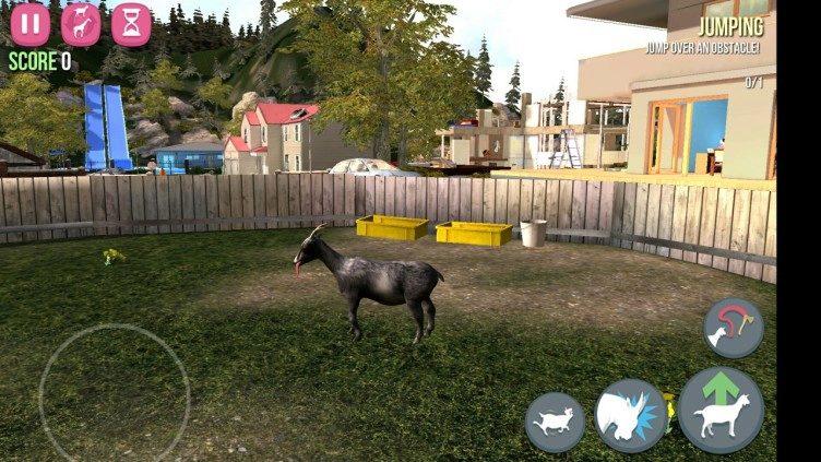 Goat Simulator dvorek 1