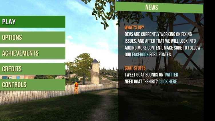 Goat Simulator menu 1