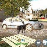 Goat Simulator ničení auta