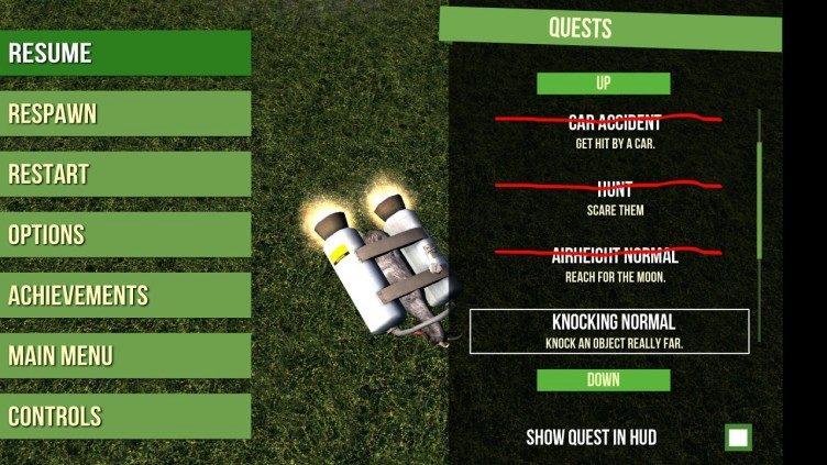 Goat Simulator úkoly