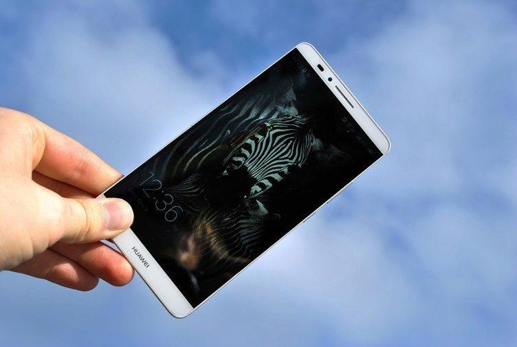 Huawei Ascend Mate 7 čitelnost na slunci