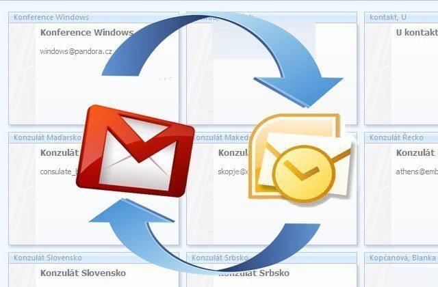 Jak importovat kontakty z Gmailu do MS Outlook?