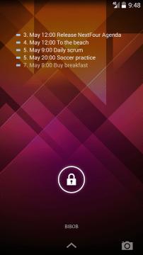 NextFour Agenda Widget