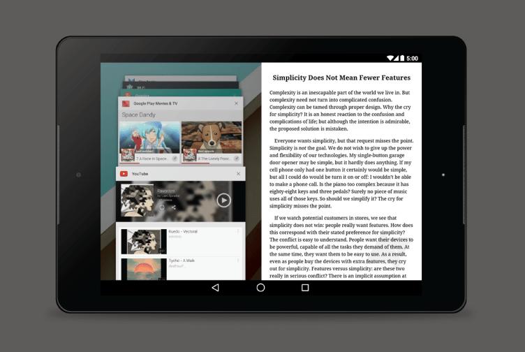Příští Android může přinést režim práce ve více oknech