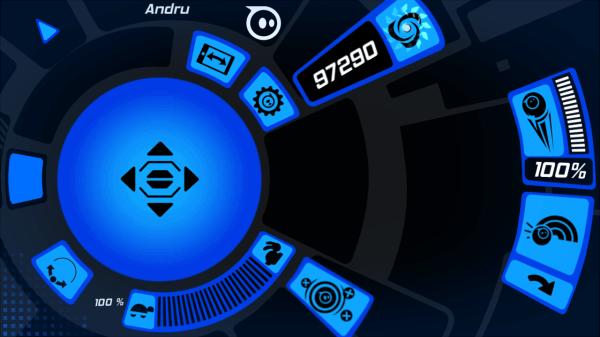 Orbotix Sphero 2.0 aplikace mód volné jízdy