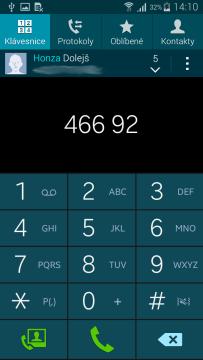 Samsung Galaxy Alpha aplikace kontakty 1
