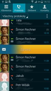 Samsung Galaxy Alpha aplikace kontakty 3