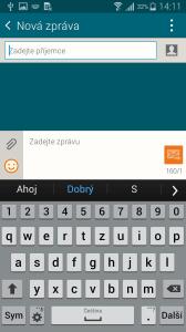 Samsung Galaxy Alpha klávesnice 1