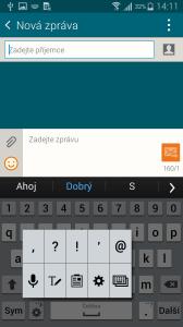 Samsung Galaxy Alpha klávesnice 2
