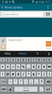 Samsung Galaxy Alpha klávesnice 3
