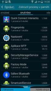 Samsung Galaxy Alpha prostředí TouchWiz 1