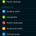 Samsung Galaxy Alpha ukázka prostředí TouchWiz 6