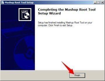 Instalace respektive rozbalení Mashup Root Tool