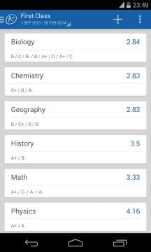 Školní známky, rozvrh hodin