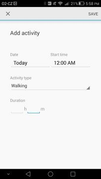ukázka prostředí fitness aplikace od společnosti Google 1