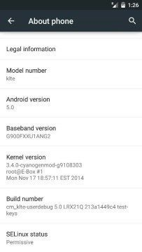 AOSP Android 5.0 Lollipop pro Samsung Galaxy S5