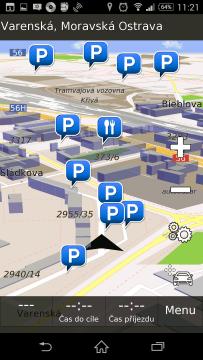 Hlavní obrazovka aplikace