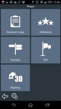 Sekce Mapa