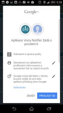 Propojení s účtem Google