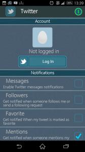 Propojení se sociální sítí Twitter