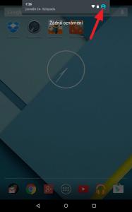 Klepněte na ikonu uživatele