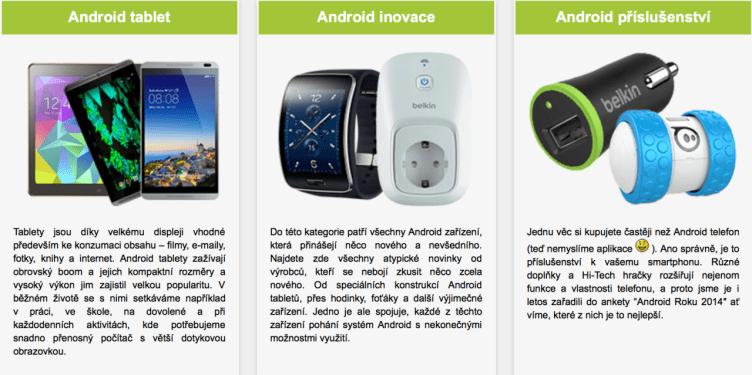 android roku telefony a příslušenství