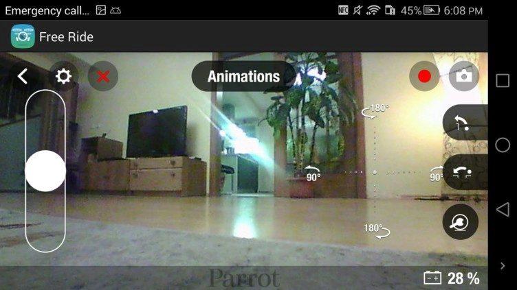 Aplikace FreeFlight 3 řízení Parrot Jumping Sumo