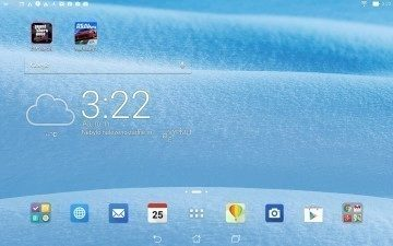 Asus Transformer Pad - homescreen