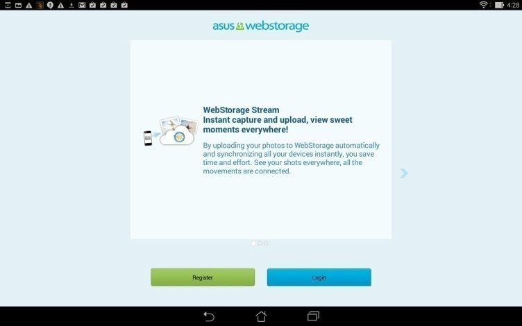 Asus Transformer Pad - Webstorage